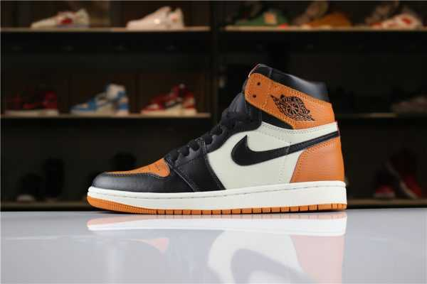 "New Air Jordan 1 Retro High OG ""Shattered Backboard"" Black/Starfish-Sail For Sale"