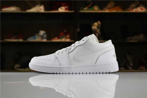 "Men' s and Women' s Air Jordan 1 Low ""Triple White"" 553558-170"