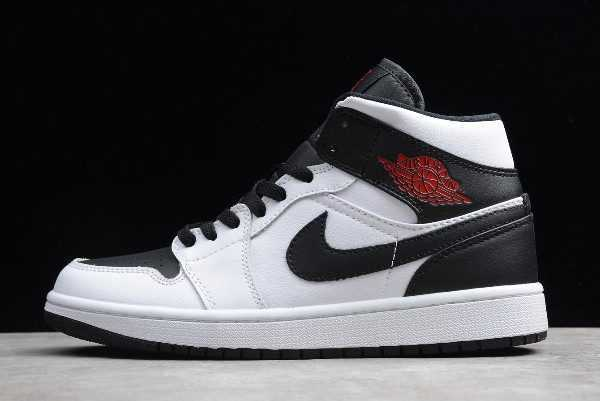 Air Jordan 1 Mid ' everse Black Toe' For Sale BQ6472-101
