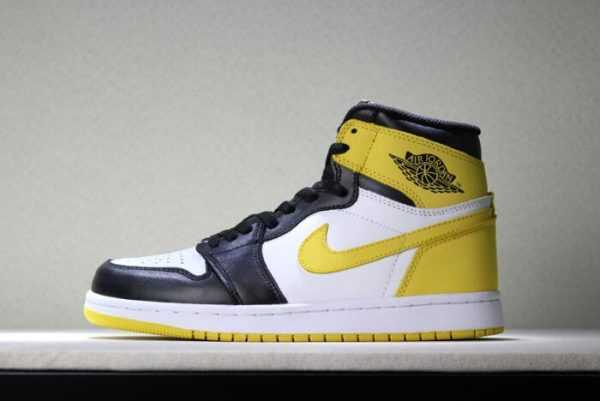 "Air Jordan 1 Retro High OG ""Yellow Ochre"" Men' s Basketball Shoes 555088-109"
