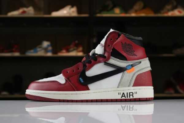 OFF-WHITE x Air Jordan 1 Retro High OG 10X White/Black-Varsity Red AA3834-101 For Sale
