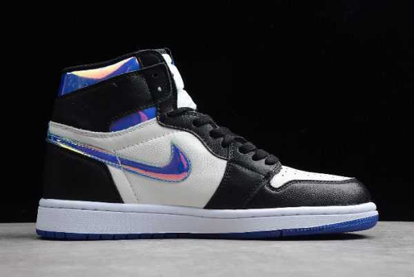 2019 Jordan Shoes 1 High Fragment Design Black/White-Varsity Royal