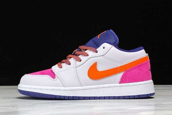 2020 New Air Jordan 1 Low Pink Corduroy CW5564-001 For Sale