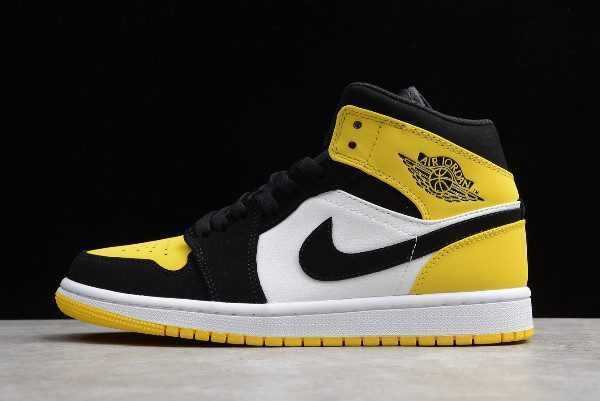 New Release Air Jordan 1 Mid SE ' ellow Toe' Black Yellow 852542-071