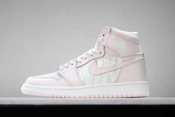 Off-White x Air Jordan 1 ' ike Swoosh' Pink White For Sale
