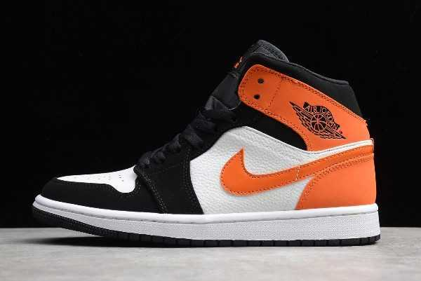 Shop Jordan 1 Mid Shattered Backboard Black White 554724-058