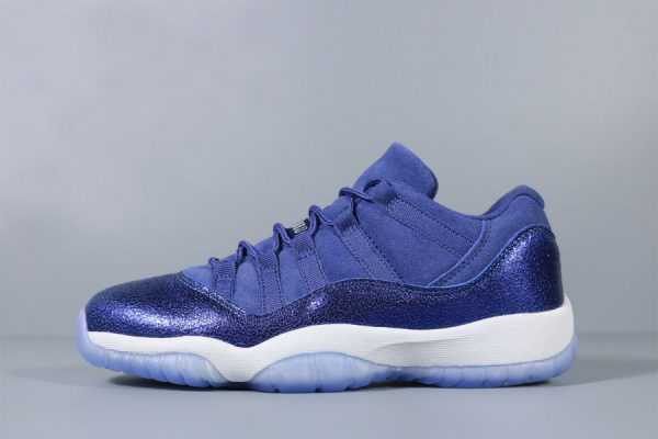 "New Air Jordan 11 Low GS ""Blue Moon"" Grade School Shoes 580521-408"
