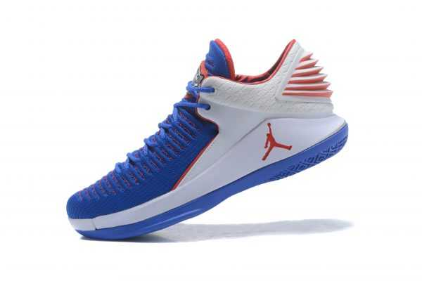 Air Jordan 32 XXXII Low ' ndre Drummond' PE Royal White Red For Sale