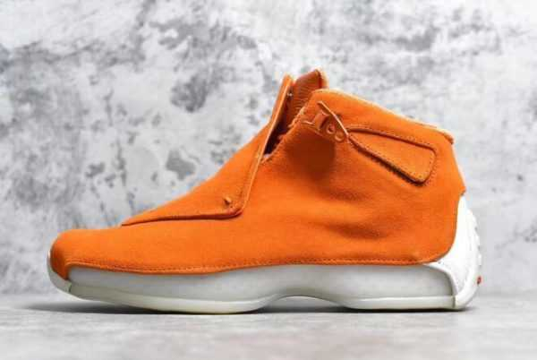 2018 Air Jordan 18 Retro ' range Suede' Campfire Orange/Sail AA2494-801