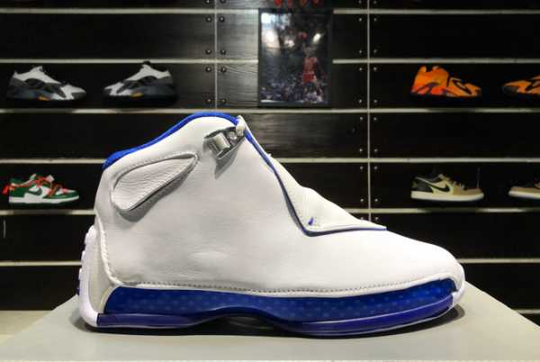 2020 New Air Jordan 18 OG ASG AJ18 White Sport Royal AA2494-106 For Sale
