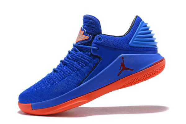 New Air Jordan 32 Low Blue Orange Men' s Basketball Shoes