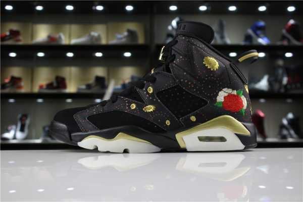 "Mens Air Jordan 6 ""CNY"" Black/Multi-Color/Summit White-Metallic Gold For Sale"