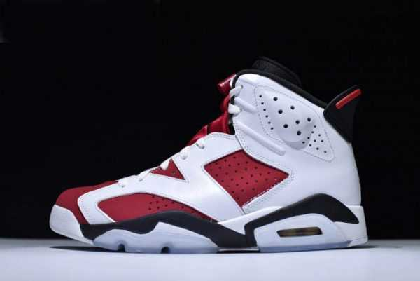 Air Jordan 6 Retro ' armine' White/Carmine-Black Brand New