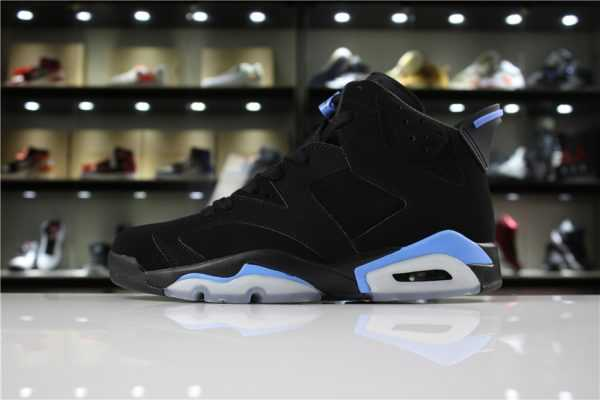 "Men' s and Women' s Air Jordan 6 ""UNC"" Black/University Blue 384664-006 For Sale"