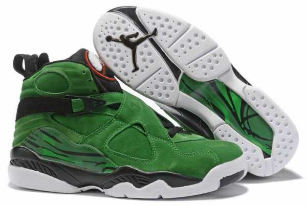 Buy Air Jordan 8 Green Black White Shoes Online