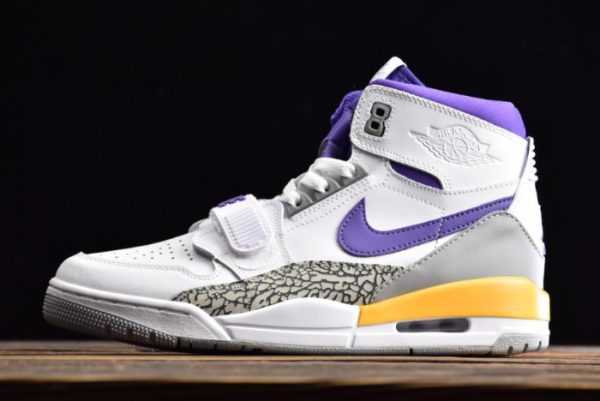 Air Jordan Legacy 312 ' akers' White Purple AV3922-157